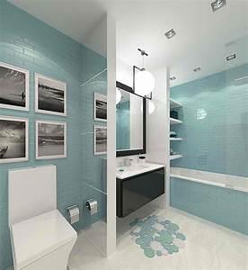 salle de bain blanche et bleu waaqeffannaaorg design With salle de bain bleu blanc gris
