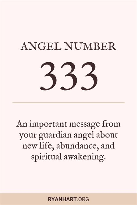 Angel Number 333 Meaning and Symbolism Explained | Ryan Hart