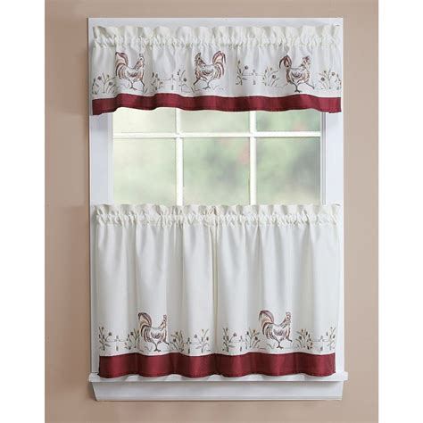 Kitchen Curtains At Kmart by Essential Home Window Treatment Kmart