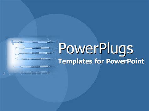 powerpoint template spotlight depicting dental equipment