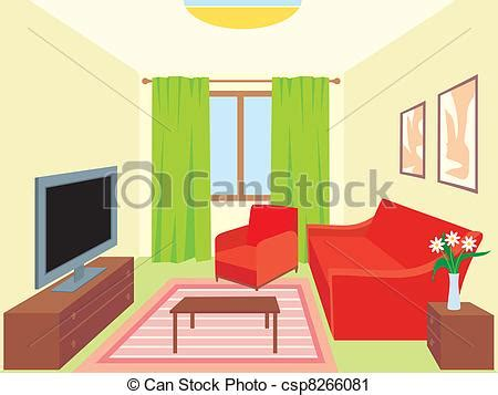 Room Drawing Clipart by Living Room Furniture Clip Cliparts
