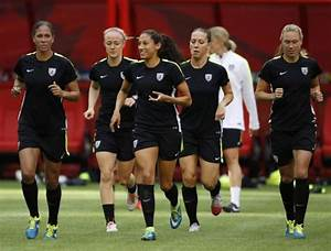 The United States national women's football team during ...