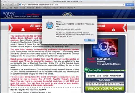 bureau ups remove fbi your browser has been locked pop up virus