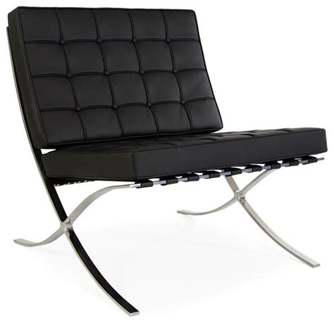 barcelona style chair genuine italian leather
