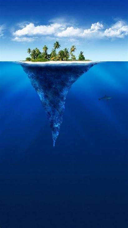 Tropical Island Iphone Iceberg Wallpapers Android Shape