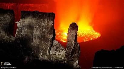 Congo Geographic National Nyiragongo Lava Wallpapers 10wallpaper