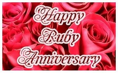 Anniversary Ruby 40th Animations Francisca Happy Getrouwd