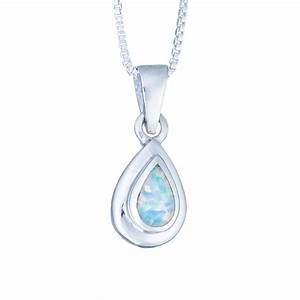 Sterling Silver White Opal Layered Teardrop Necklace ...
