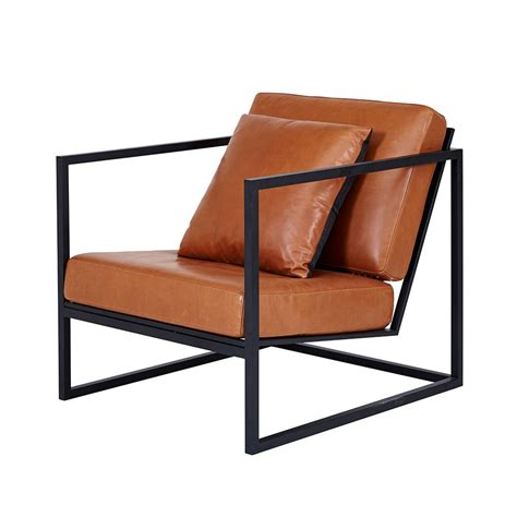 accent chairs for living room modern designer stanley armchair black metal frame
