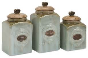 ceramic kitchen canisters ceramic canisters set of 3 traditional kitchen canisters and jars by uber bazaar