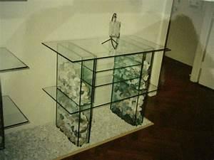 Tv Tisch Aus Glas : bild glas stein tv design von peter brandl bei kunstnet ~ Bigdaddyawards.com Haus und Dekorationen
