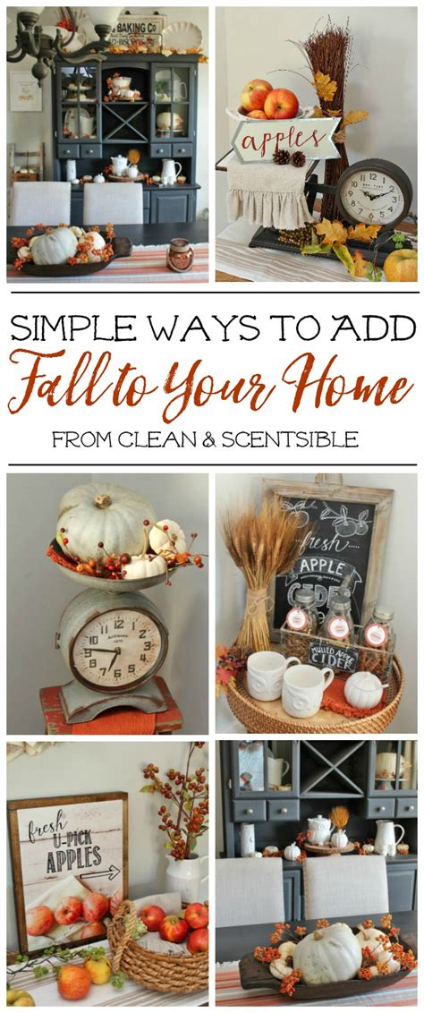 Cheap Easy Ways To Decorate Your Home by Simple Fall Decor Inspiration Clean And Scentsible