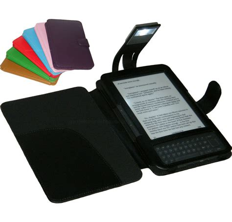 Kindle With Light by Black Cover With Light For Kindle 3 And 3g Ebay
