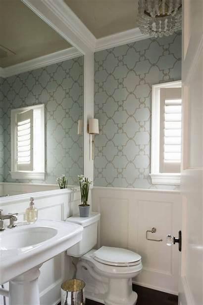 Bathroom Powder Studio Half Bathrooms Interiors Wallpapered