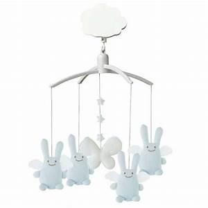 Mobile Musical Garcon : cadeaux cadeaux naissance gar on mobile musical ange lapin bleu ciel rose milk ~ Teatrodelosmanantiales.com Idées de Décoration