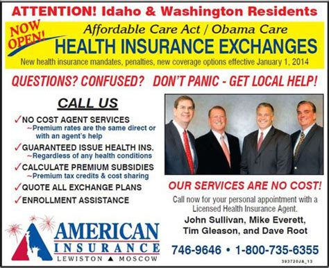 Worldwide assurance for employees of public agencies. Only Agents Can Explain Exchange Plans - American Insurance in Lewiston & Moscow, Idaho