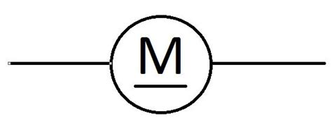 unknown symbol on schematic circle with quot m quot underlined