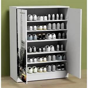 Meuble Chaussure Pas Cher : impressionnant meuble chaussures 30 paires d coration ~ Carolinahurricanesstore.com Idées de Décoration