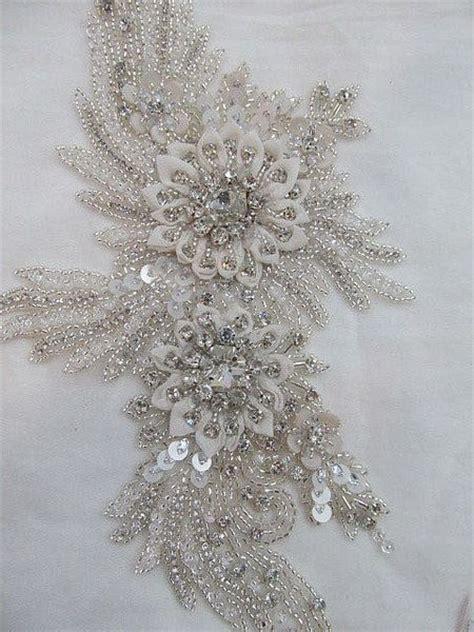 applique swarovski 1 swarovski beaded wedding gown applique by