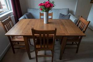 Solid, Hardwood, Italian, Made, Extendable, Dining, Table, And, 4, Chairs