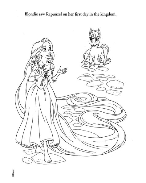 Disney Princess Palace Pets Coloring Pages Sketch Coloring