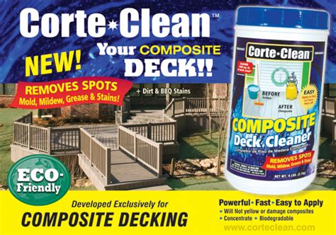 trex deck cleaner corte clean eco friendly composite deck cleaner