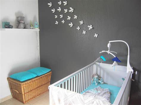 déco chambre bébé turquoise