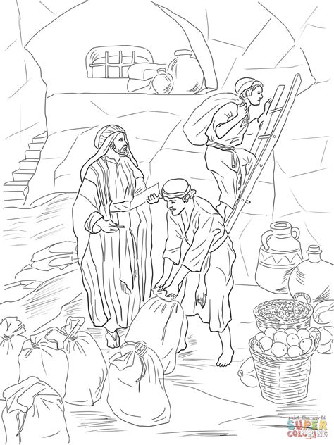 prophet malachi storing gifts   temple coloring page  printable coloring pages