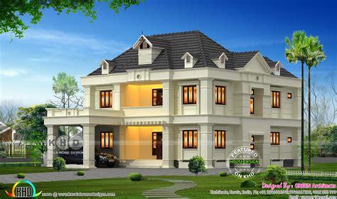 bhk  sq ft colonial home  calicut kerala home design  floor plans