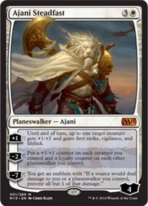 Ajani Mentor Of Heroes Deck 2015 by Ajani Goldmane Planeswalkers Magic The Gathering