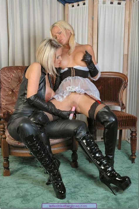 Frankie Babe And Her Girlfriend Wearing Leather