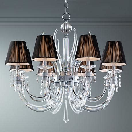wide chandelier derry 8 light chrome 32 quot wide chandelier