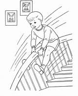 Coloring Pages Boy Boys Sheets Down Playing Sliding Stair Rail Printable Pokemon Bayleef Colouring Paper Activity Activities Embroidery Colering Enjoying sketch template