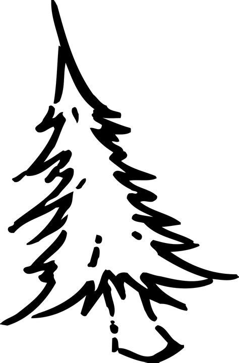 kostenlose vektorgrafik weihnachtsbaum zeichnung