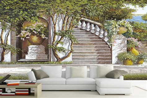 custom  wall murals stairs wall murals painting living