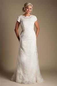 modest high neck full back short sleeve ivory lace wedding With ivory lace sleeve wedding dress