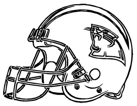football helmet coloring pages football helmet carolina panthers coloring page