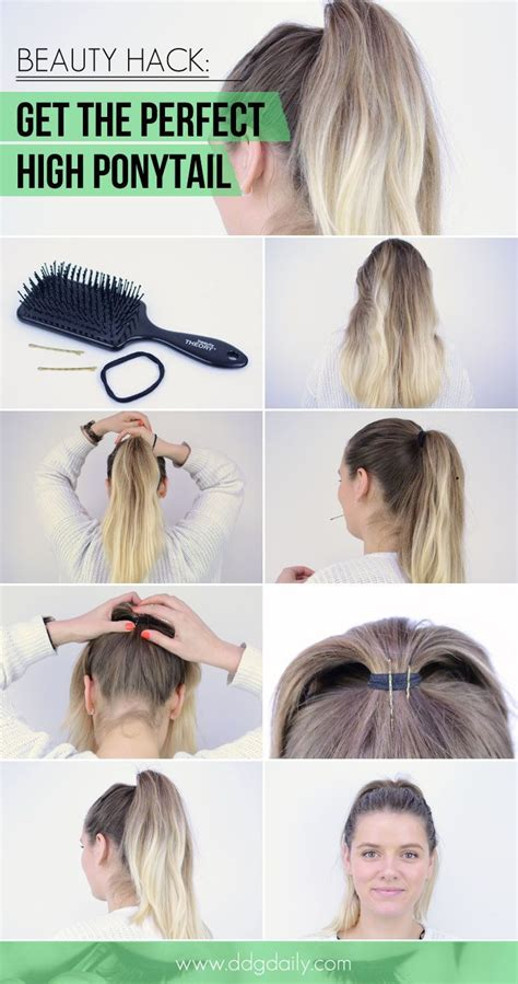 how to get the perfect high ponytail beauty hack