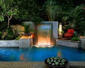 Fontaine Cascade Bassin : id e de bassin d 39 eau avec cascade d co am nagement de ~ Premium-room.com Idées de Décoration