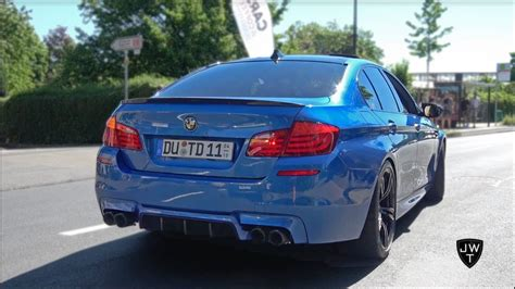 Modified Bmw M5 by Modified Bmw M5 F10 S Exhaust Sounds Loud Accelerations