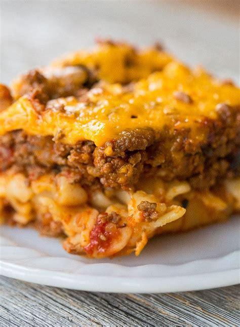 johnny marzetti casserole ground beef casserole recipe