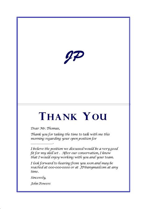 personalized sale exle thank you card after letters free