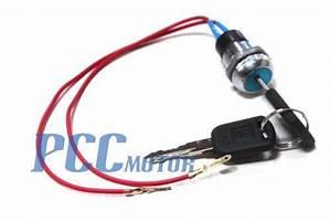 2 Wires Ignition Key Switch 49cc Super Pocket Bike Scooter
