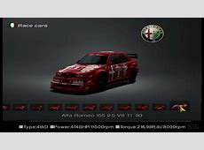 Gran Turismo 4 Alfa Romeo Car List HD PS2 Gameplay YouTube