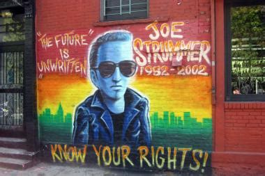 joe strummer mural removed in east to be repainted by artists east dnainfo