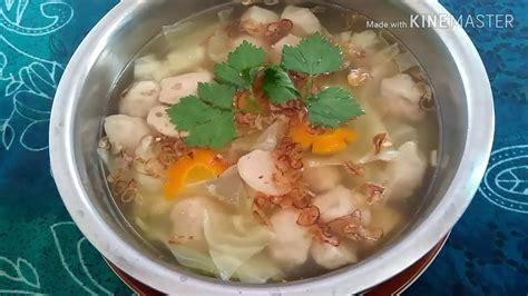 Sayur sop atau sop sayuran paling mudah dibuat. RESEP SOP SAYUR BAKSO - YouTube
