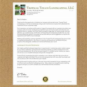 Landscape architects charlotte landscaping company for Landscaping company introduction letter