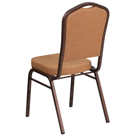 Hercules Stackable Banquet Chairs by Hercules Series Crown Back Stacking Banquet Chair In Brown