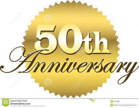 50th anniversary golden wedding anniversary clipart clipart suggest