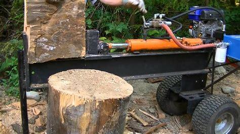 homemade firewood splitter youtube